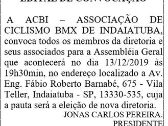 EDITAL DE CONVOCAÇÃO PARA ELEIÇÃO.