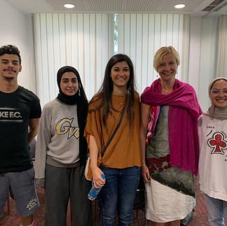 Students at the American Uni, Kuwait 2019