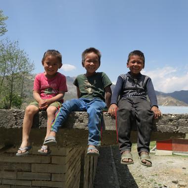 Three boys on the school roof!