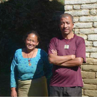 Kamal (headteacher) and his wife Bimila