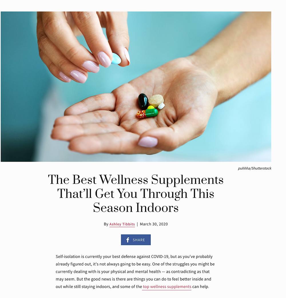 supplements in hand
