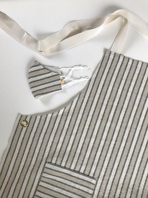 Stripe Apron & Mask