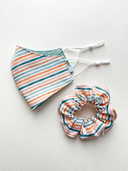 Vintage Stripe Mask & Scrunchie