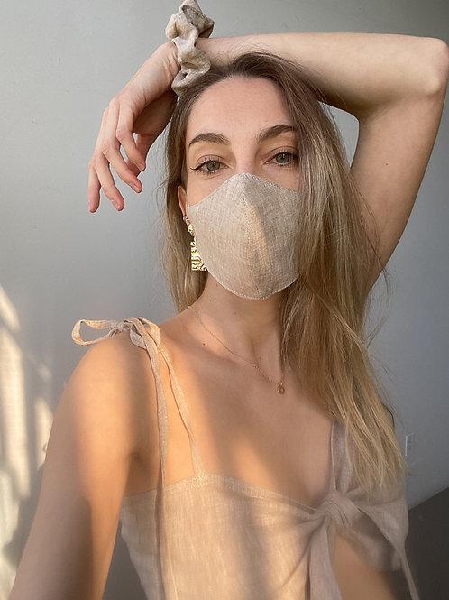 Linen Mask & Scrunchie