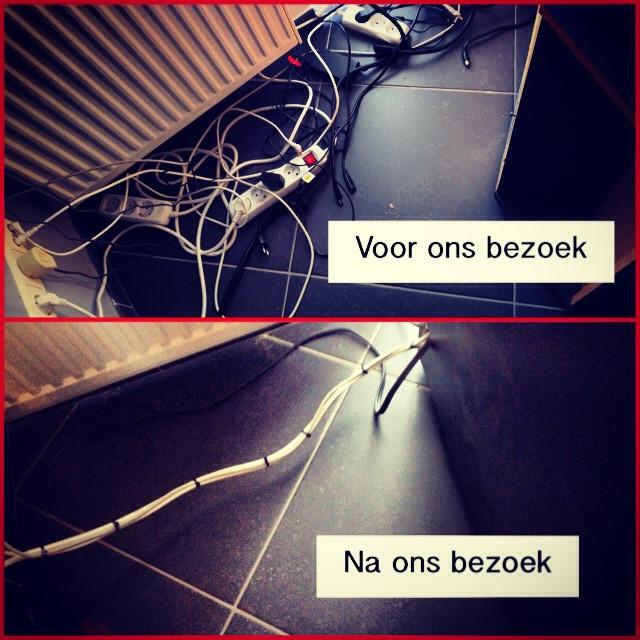 kabels opruimen