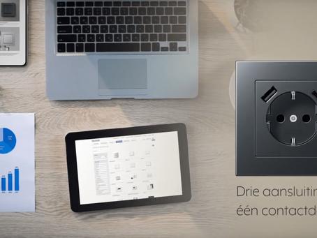 JUNG stopcontacten met USB-laders