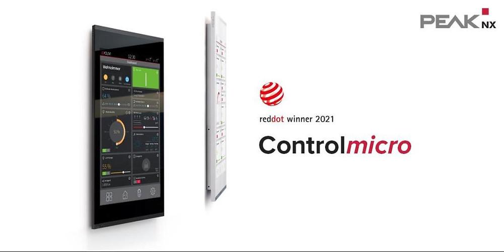"""PEAKnx lanceert bekroond 8"""" KNX aanraakscherm Controlmicro"""