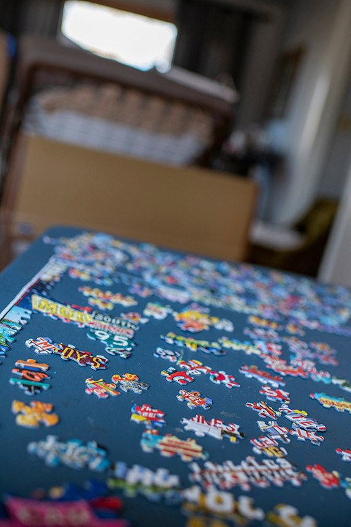 Jigsaw puzzles have helped the time pass, waiting for Mom's final day.