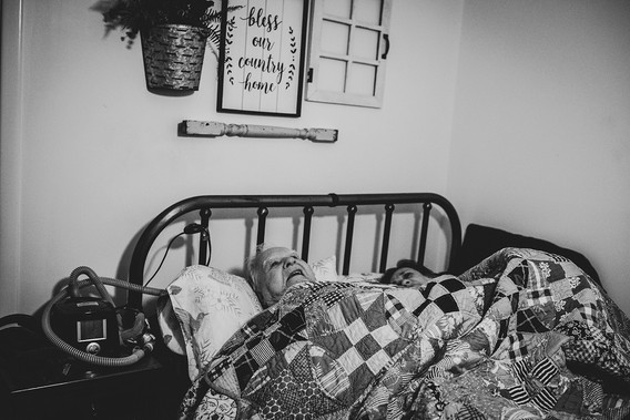 """Mom finally could sleep in her own bed after more than a month. The next morning, Dad told me Mom was thrilled to be in her own bed and said,  """"Oh Lord, this is awful good."""""""