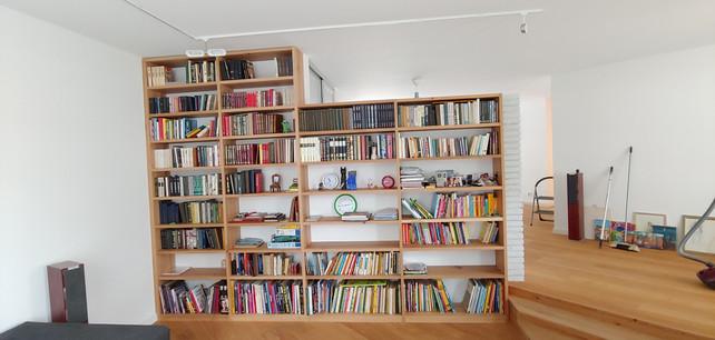 Bücherregal Eiche Massiv