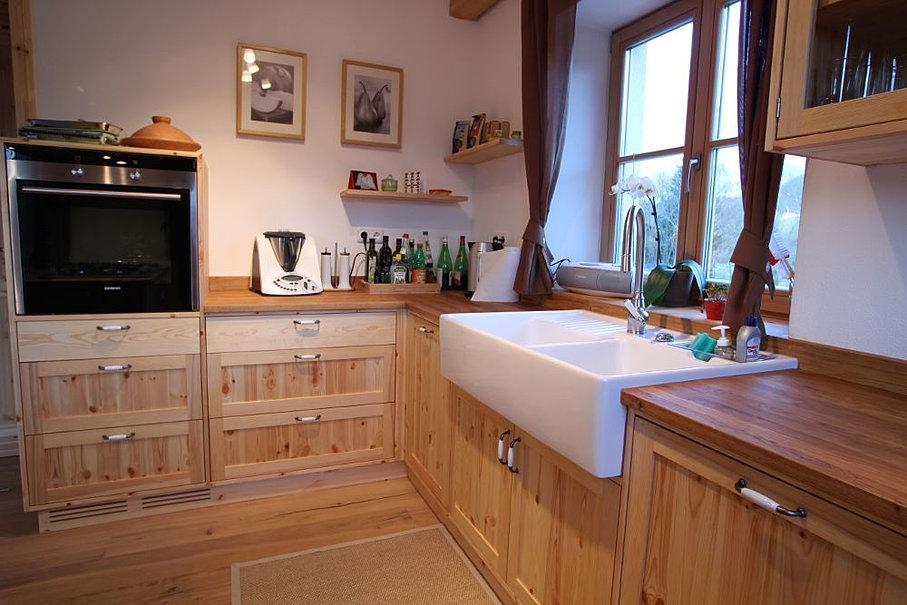 landhaus eckbankgruppe kiefer massiv 2-farbig weiß lackiert ... - Küche Kiefer Massiv