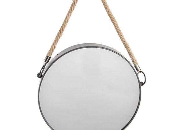 Espejo marco negro y cuerda