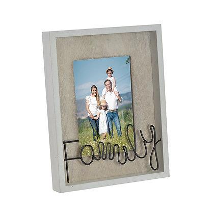 Portafoto Family alambre 10X15