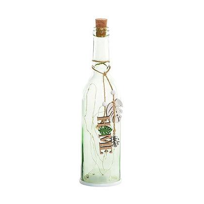 Botella verde claro home