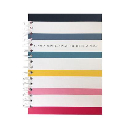 Cuaderno rayas