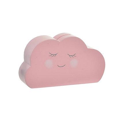 Alcancía nube rosada