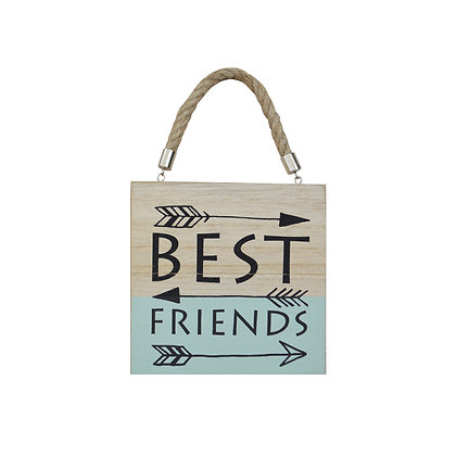 Placa Madera Best Friends
