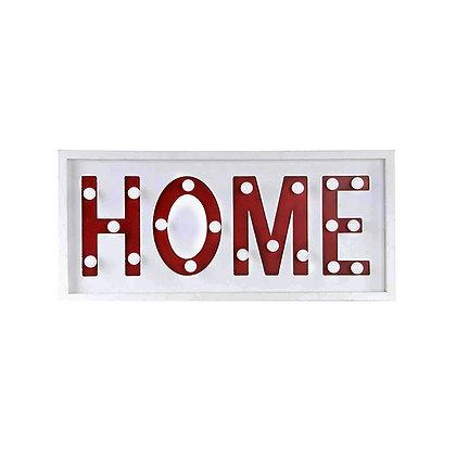 Letrero con luz HOME