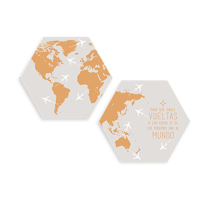 Cuadros Hexágonos Mapa