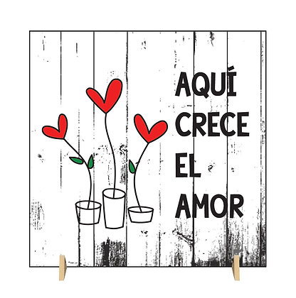 Cuadro Crece el amor