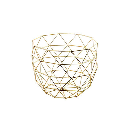 Centro de mesa geométrico pequeño dorado