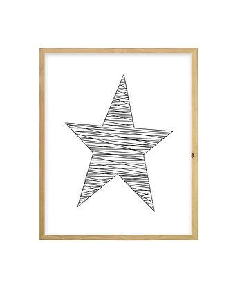 Cuadro Estrella Rayas
