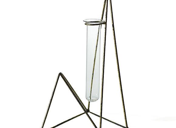 Florero tubo de ensayo geométrico