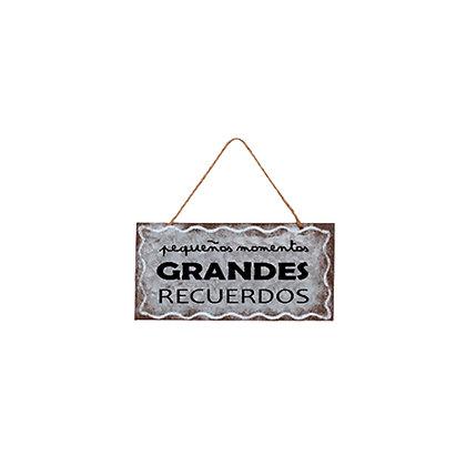 Placa Metálica Recuerdos