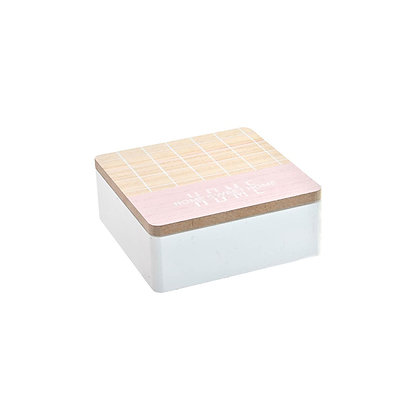 Caja Home rosada pequeña