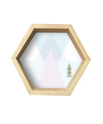 Repisa Hexágono Triángulos