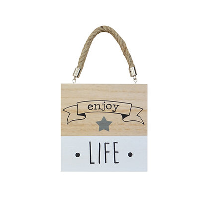 Placa Madera Enjoy Life