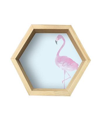 Repisa Hexágono Flamingo