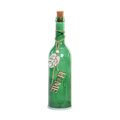 Botella verde oscuro home