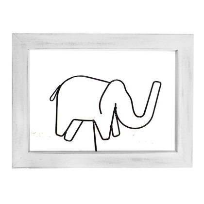 Cuadro Alambre Elefante