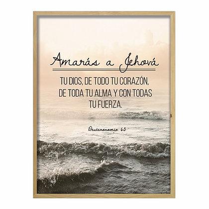 Cuadro Biblia Deuteronomio 6:5