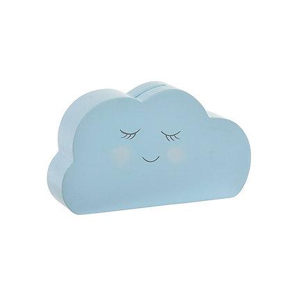Alcancía nube azul