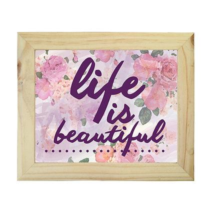Cuadro Pino Life is Beautiful