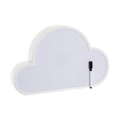 Nube con luz y tablero