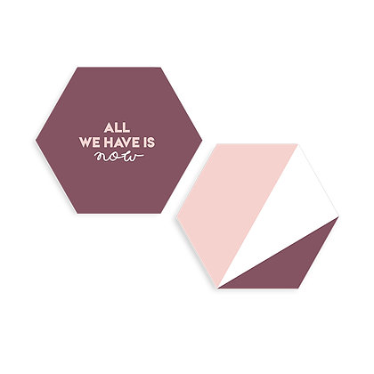 Cuadros Hexágonos All we have is now