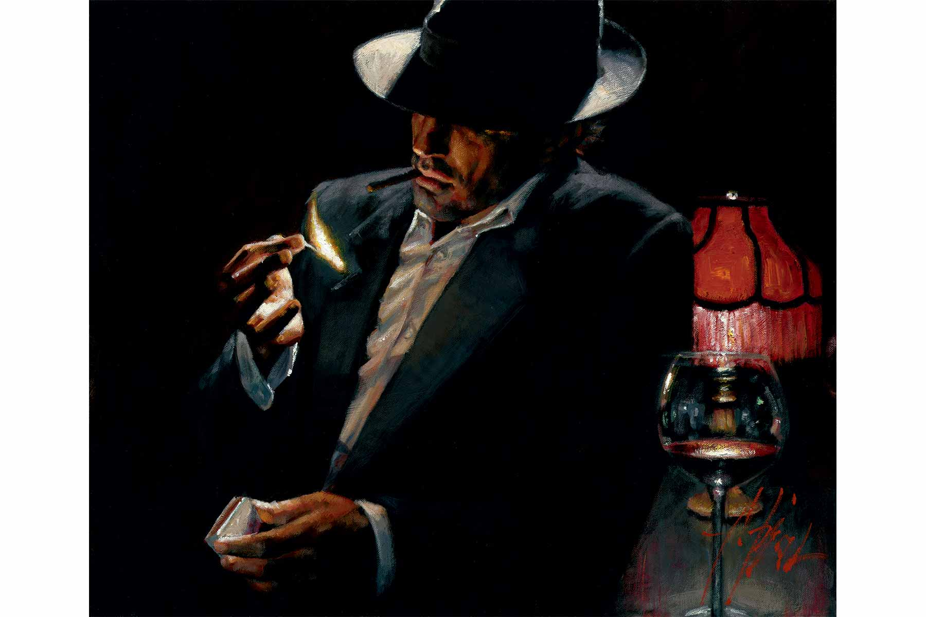 Man Lighting Cigarette II