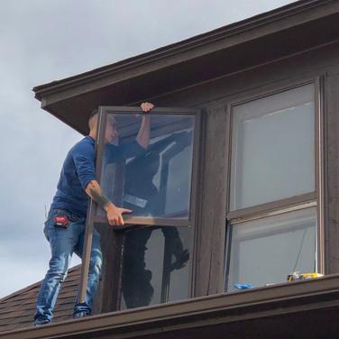 single pane window glass repair