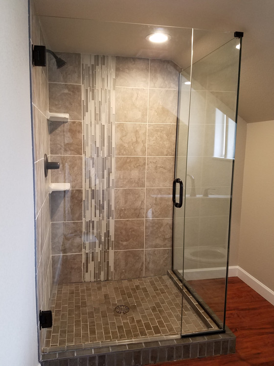 Custom Shower Door Installation