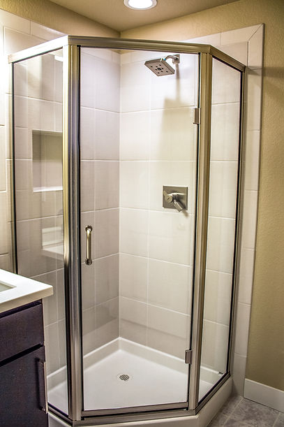 neo angle glass shower doors loveland, colrado
