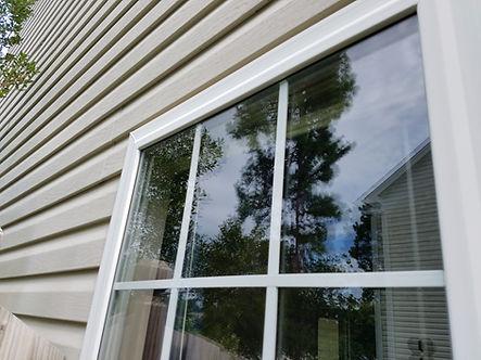 repaired double pane window glass