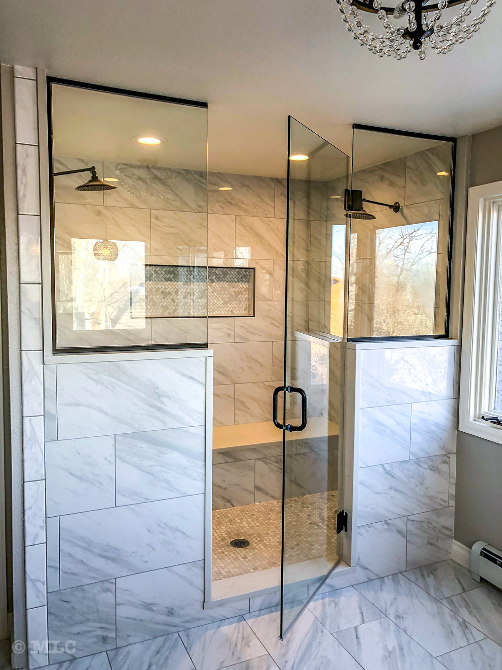 Custom Shower Door Enclosure