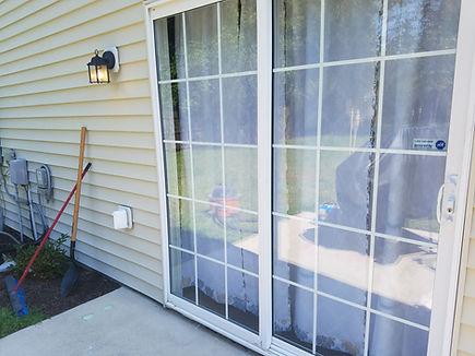 patio door glass repaired