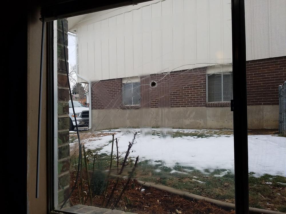 Broken Single Pane Window