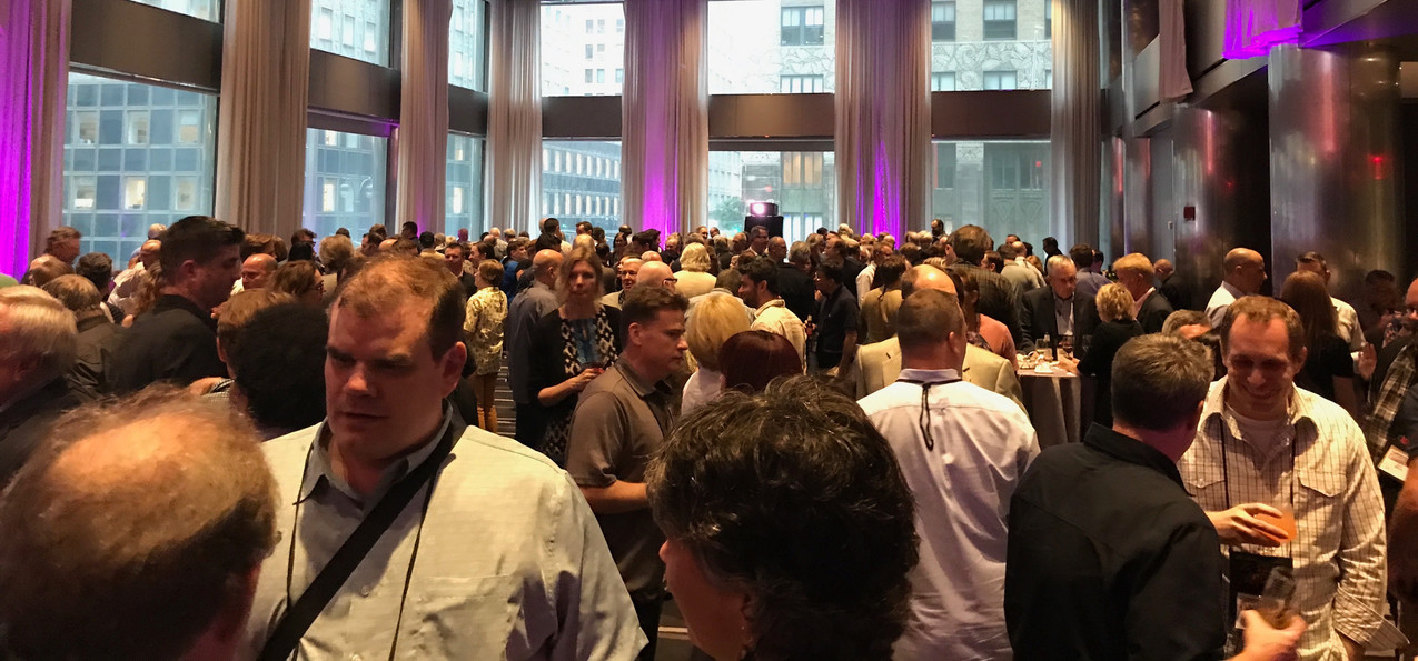 One of many cocktail parties at ThrillerFest. Writers love cocktail parties.