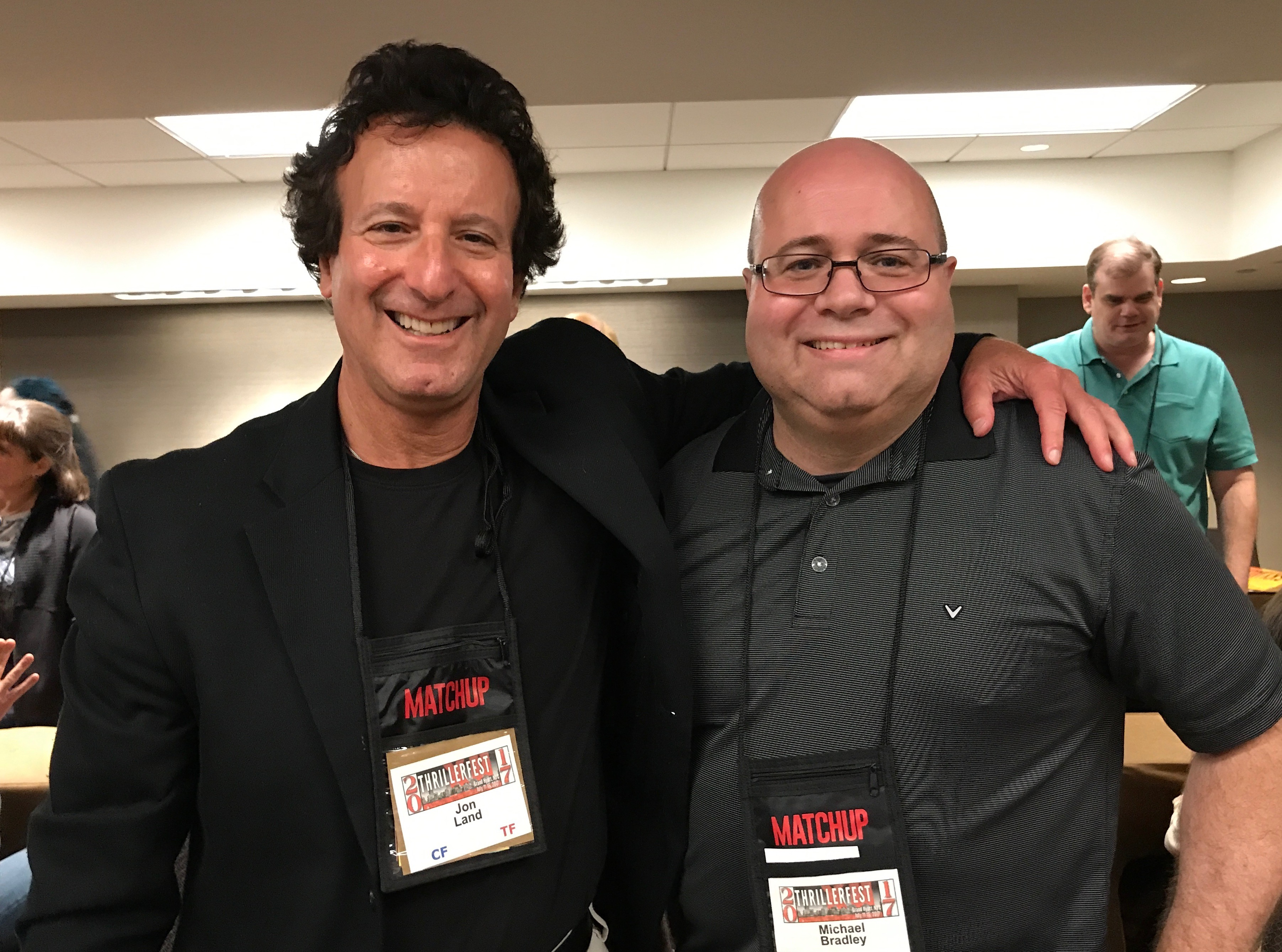 With Jon Land at ThrillerFest