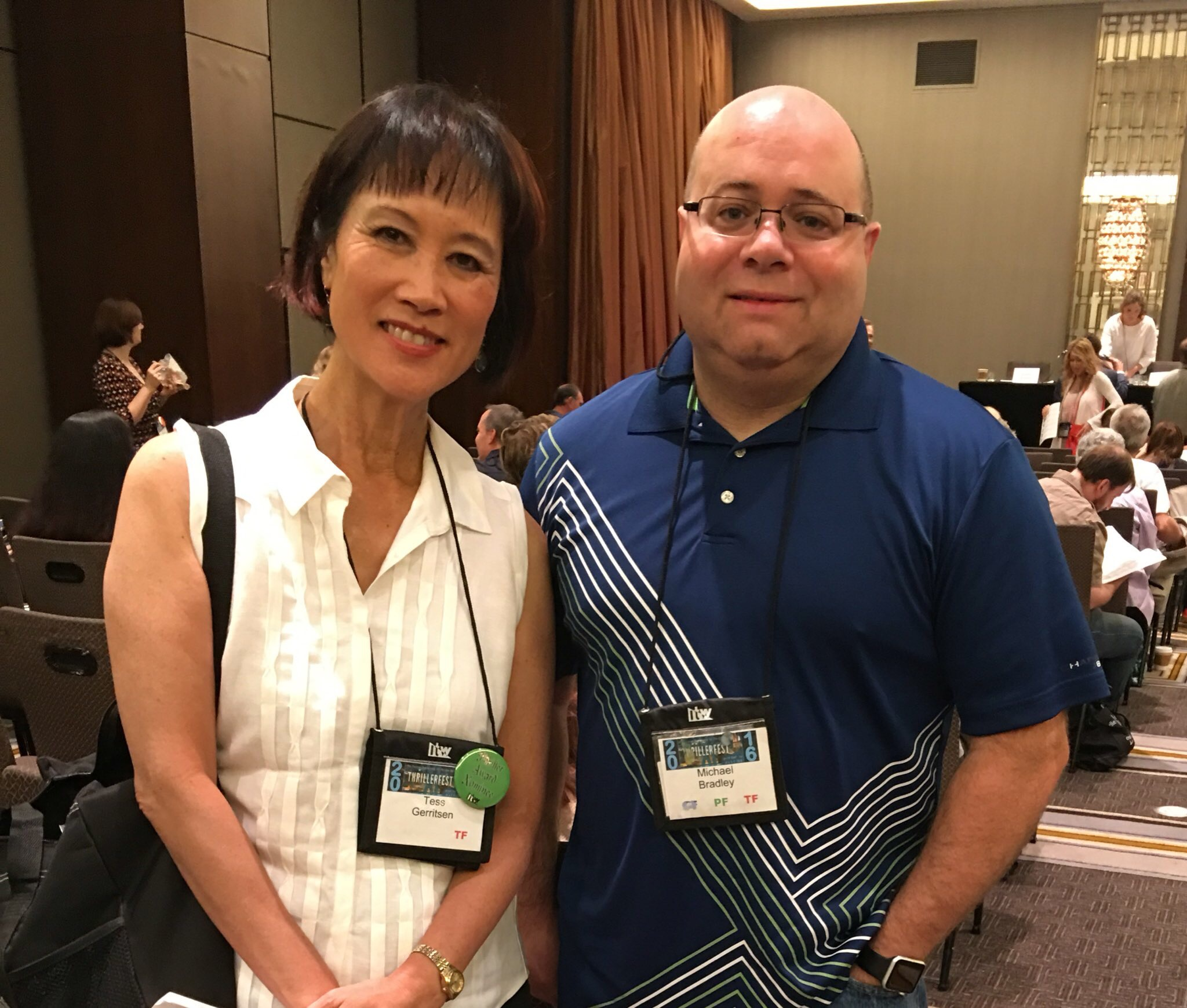 With Tess Gerritsen